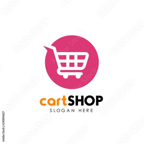 Foto shopping cart logo design. cart icon design