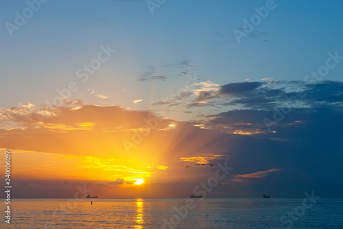 Sunrise over Atlantic ocean, FL, USA