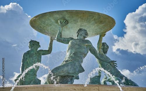 Obraz na płótnie Close-up of the Triton Fountain at Valleta, Malta