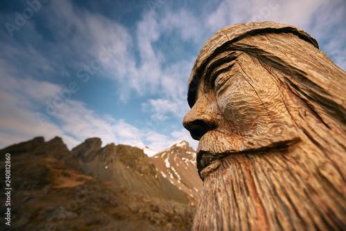 Wooden Viking, Iceland Fototapete