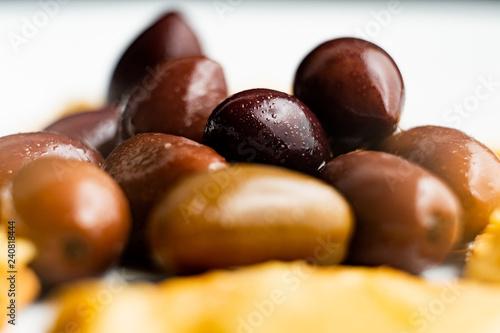 close up olives