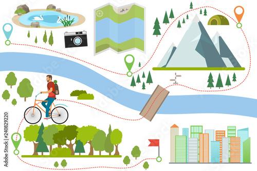 Fotografia Bike route map