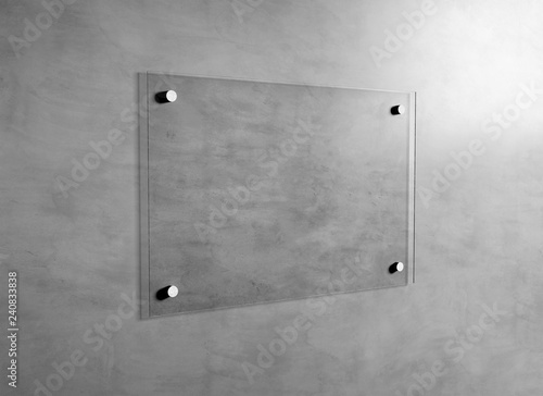 Photo Mock up of a plate glass sign