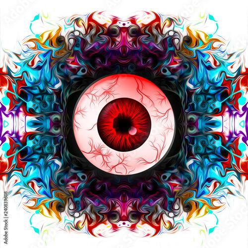 рисованный абстрактный красочный женский глаз