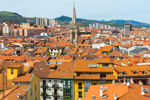 Fotografía  Downtown of Bilbao city from Solokoetxe lookout point, Spain