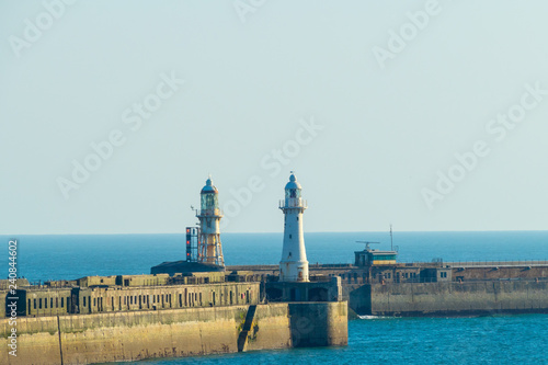 Deurstickers Poort Dover Lighthouses Harbour Leuchttürme Hafen