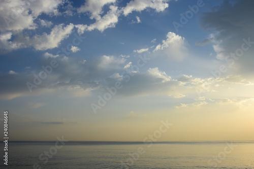 Printed kitchen splashbacks Fishing Sonnenaufgang am Meer