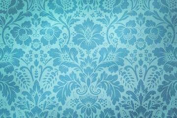 Decorative Floral Turquoise Pattern