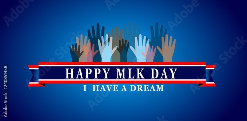 Photo Martin Luther King Day illustration background