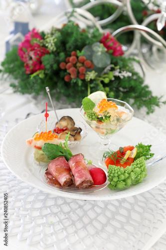 クリスマス 前菜 ワンプレート