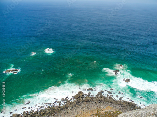 Fotografie, Tablou  Cabo de Roca, Atlantic ocean, high cliffs and big waves.