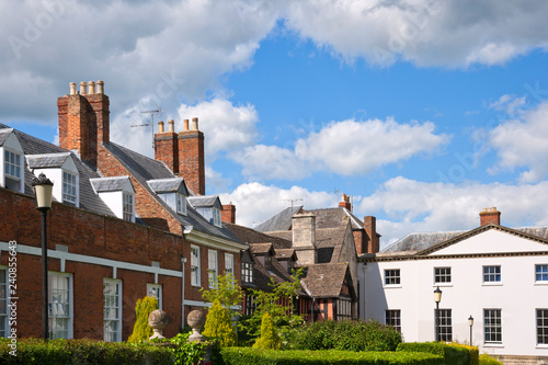 Fotografie, Obraz Picturesque old buildings near Gloucester Cathedral,Gloucestershire, UK
