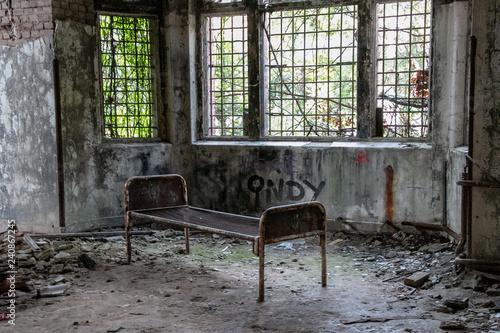 Aluminium Prints Old Hospital Beelitz Ruins of Beelitz-Heilstätten Lost place Berlin Brandenburg;