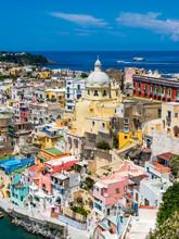 Italy, Campania, Gulf Of Naples, Phlegraean Islands, Procida Island, Harbor, Marina Di Corricella