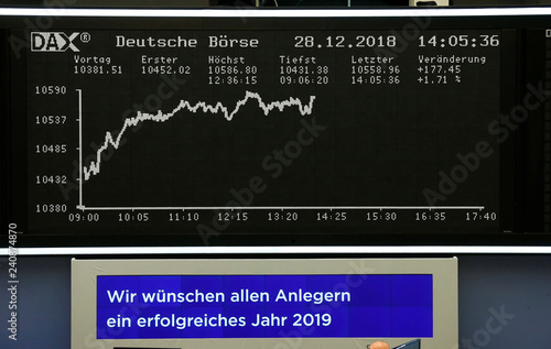 The German share price index DAX graph is pictured during