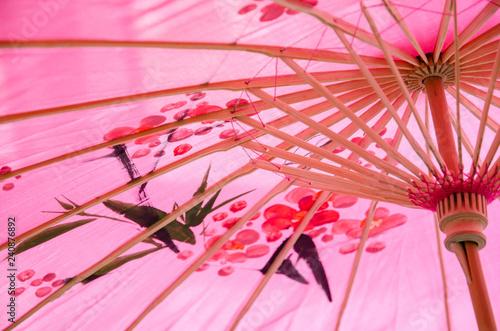 Fotografie, Obraz  Chinese red oiled-paper umbrella
