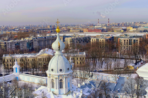Papiers peints Paris Beautiful view of the city of St. Petersburg, historical and architectural masterpieces of the tourist paradise