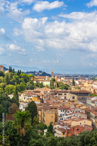 Photo Stands Europa Panoramic view of Florence from Piazzale Michelangelo