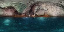 Underground Lake, HDRI, Environment Map , Round Panorama, Spherical Panorama, Equidistant Projection, Panorama 360