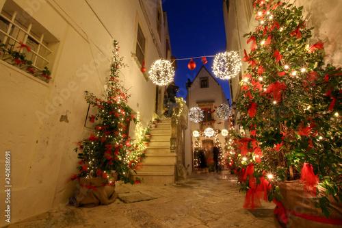 Natale a Locorotondo, Puglia Canvas Print