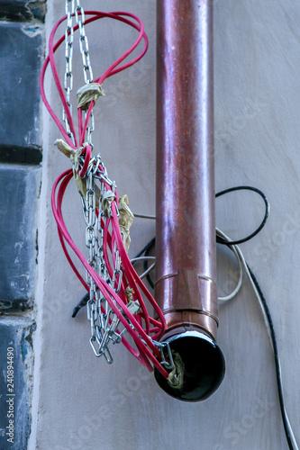 Fotografia, Obraz  Abstract construction drainpipe in Riga.