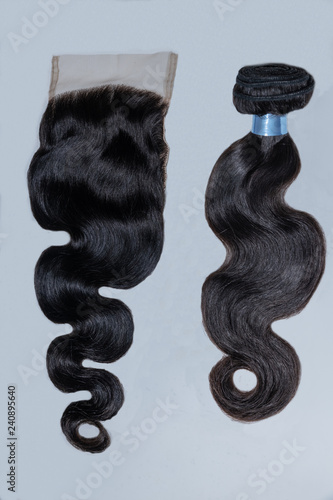 Photo Human hair bundles