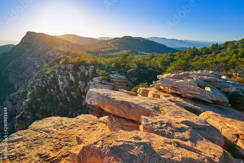Garbi peak sunset at Calderona Sierra Valencia Wallpaper Mural