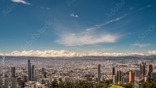beautiful december sky over the city of Bogotà, Colombia, South America Canvas Print