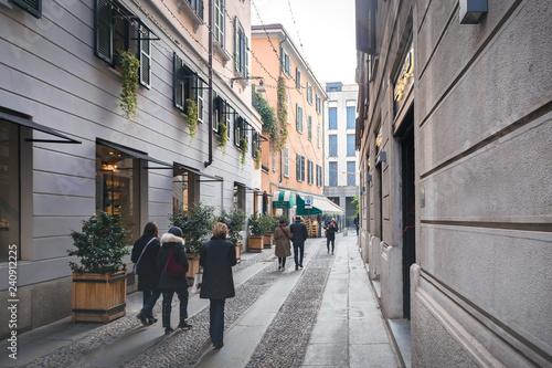 Canvas Prints Narrow alley Milano, Italy