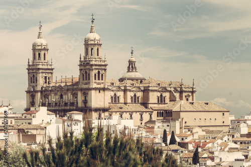 Jaen Cathedral from Seminary viewpoint. Andalusia, Spain.