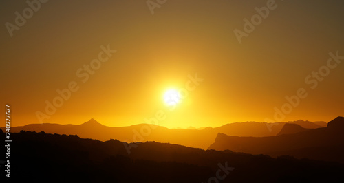 Canvas Prints Cuban Red Rocklands Rock Climbing Mountains during the sunset near Cape Town, South Africa.
