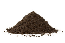 Pile Or Heap Of Soil Isolated On White Background
