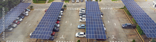 Fotografie, Tablou Parking lot with solar panel on roof