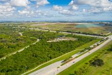 Florida Landfill Trash Aerial Drone Photo