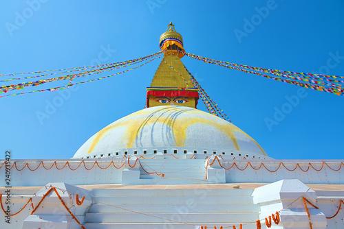 Fotografie, Obraz  Famous Buddhist Swayambhunath Stupa, in Kathmandu, Nepal