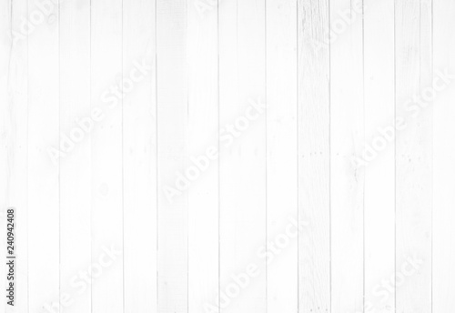 White wood surface with long boards lined up Slika na platnu