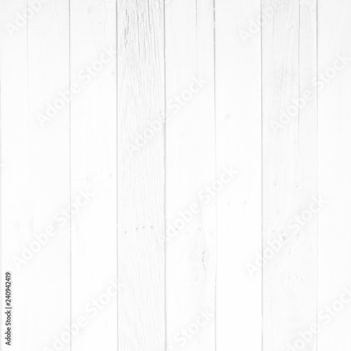 White wood surface with long boards lined up Fototapeta