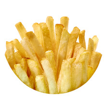 French Fries For Packaging Isolated On White Background
