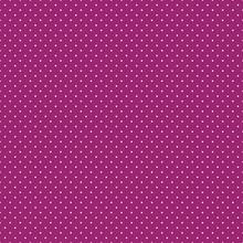 Polka Dots Seamless Pattern - Tiny White Polka Dots On Magenta Pink Background