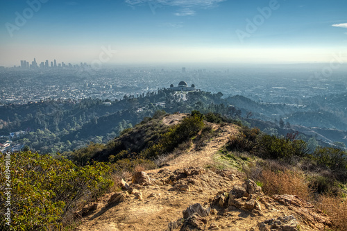 Fotografie, Tablou Griffith Observatory from Mount Hollywood Trail