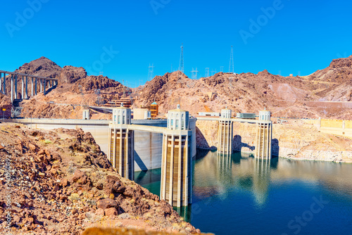 Foto op Plexiglas Verenigde Staten Famous and amazing Hoover Dam at Lake Mead, Nevada and Arizona Border.