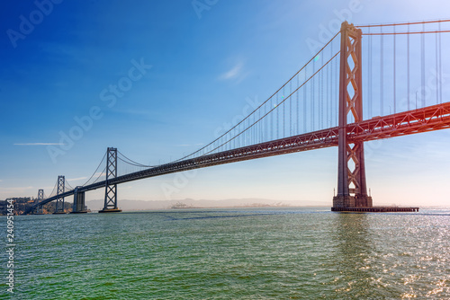 In de dag Verenigde Staten Oakland Bay Bridge. Ocean Quay in the north of San Francisco.