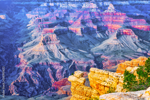 Foto op Plexiglas Verenigde Staten Amazing natural geological formation - Grand Canyon in Arizona, Southern Rim.