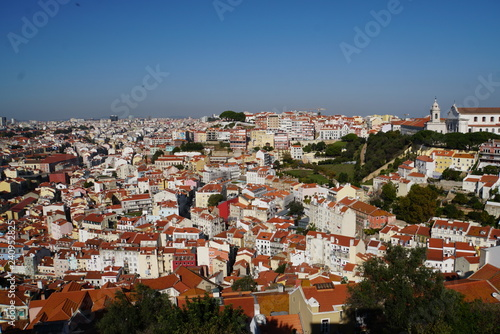 Plakat Widok z Castelo de Sao Jorge - Lizbona