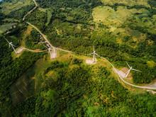 Wind Farm In The Mountain