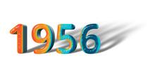 3D Number Year 1956 Joyful Hop...