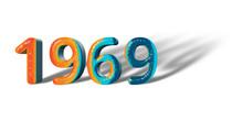 3D Number Year 1969 Joyful Hop...