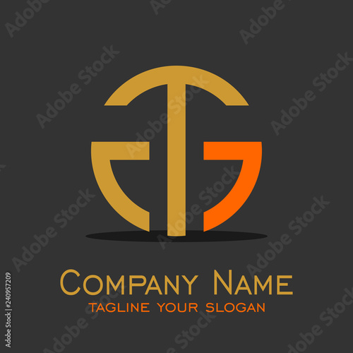 Letter T G Logo Design Buy This Stock Vector And Explore