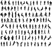 Big Set With People Silhouettes