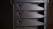 Hard Drive Array With Blinking...